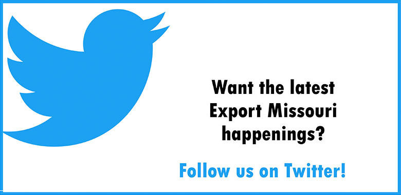 Want the latest Export Missouri happenings? Follow us on Twitter!